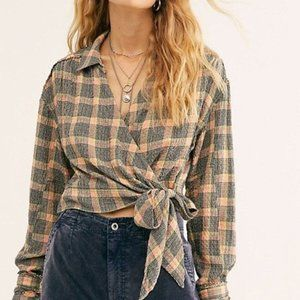 Free People We The Free Running Wild Wrap Top NWT